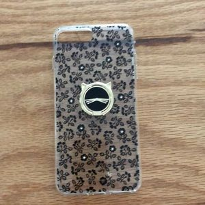 Kate Spade phone case with kitty rotating holder.